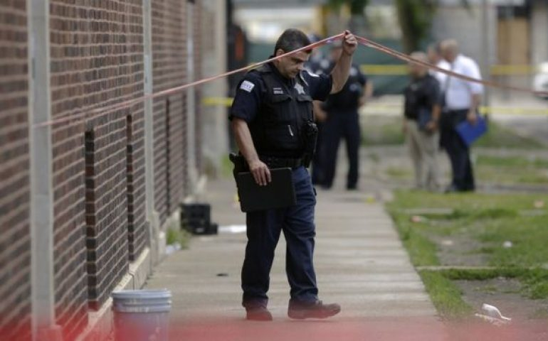 Chicago Shooting Crime Scene