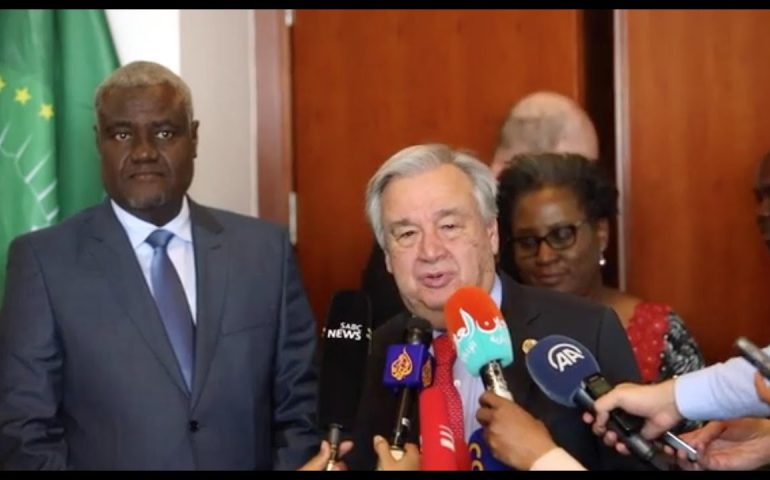 Cooperation between African Union & the United Nations – UN chief presser in Addis Ababa (Ethiopia)
