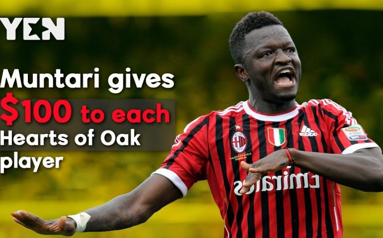 Ghana News Today: Sulley Muntari Gives $2.200 To Accra Hearts Of Oak Players | #Yencomgh