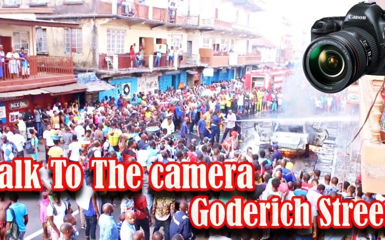 Talk To The Camera – At Goderich Street Freetown – Sierra Leone