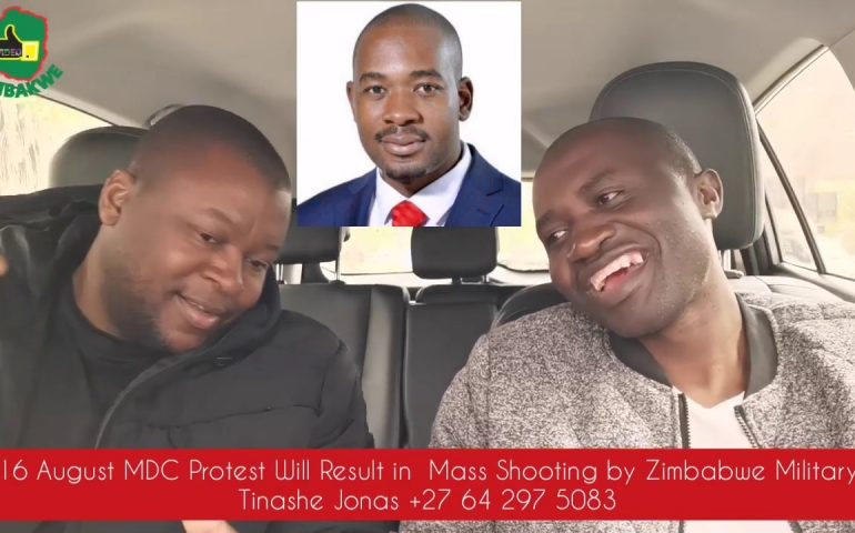 MDC 16 August Will Result in Shooting of Civilians by Zimbabwe Military – Tinashe Jonas