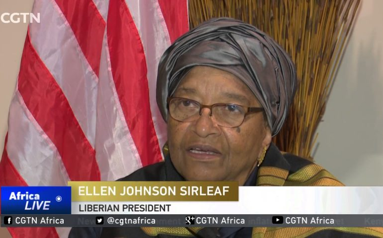 Liberia's Sirleaf out of presidential election set for October 2017