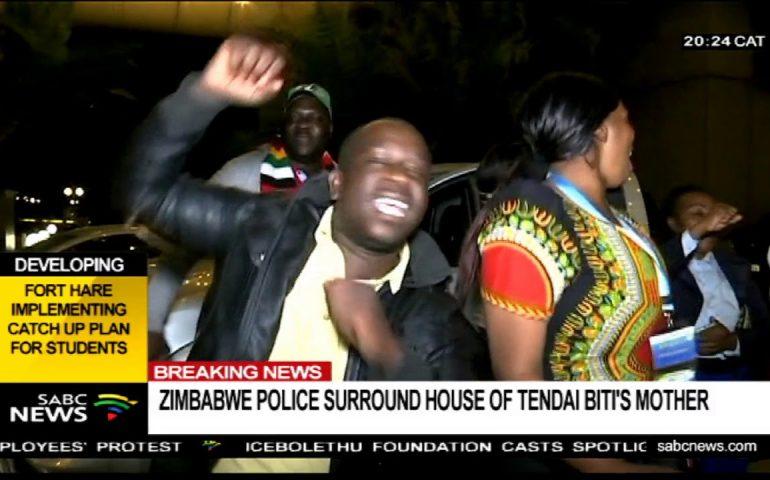 BREAKING NEWS: Zimbabwe police surround house of Tendai Biti's mother