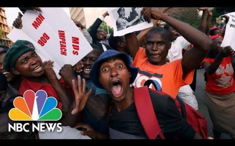 Celebrations In Zimbabwe As Robert Mugabe Resigns | NBC News