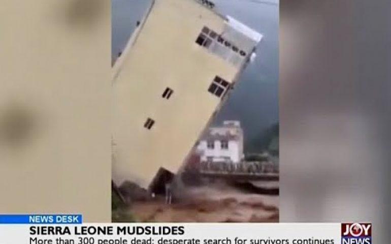 Sierra Leone Mudslides – News Desk on Joy News (15-8-17)