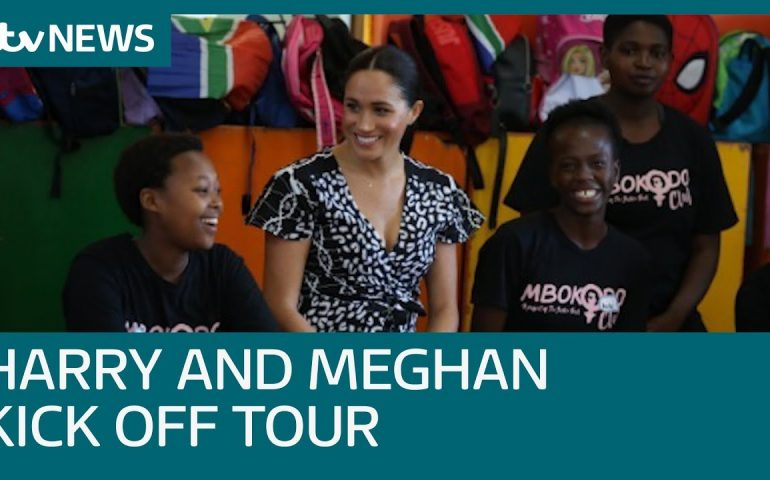 Harry and Meghan in a township with South Africa's highest murder rate | ITV News