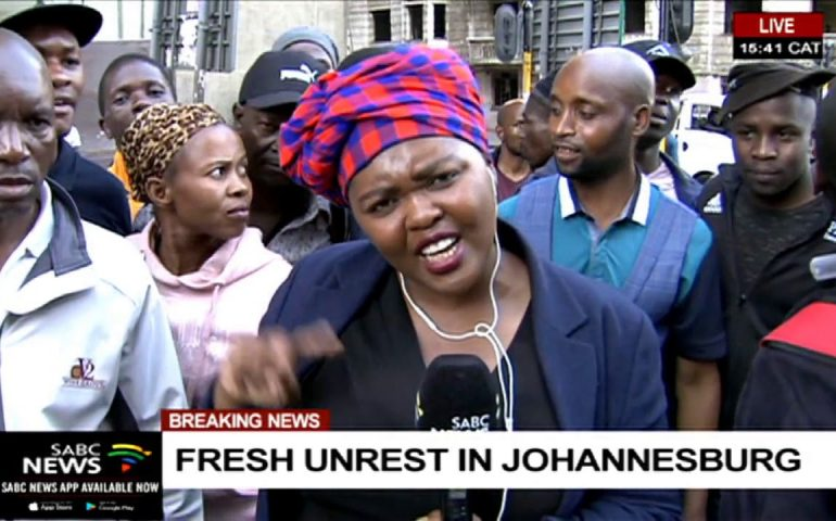 Fresh unrest in Johannesburg   Mahlako Komane reports