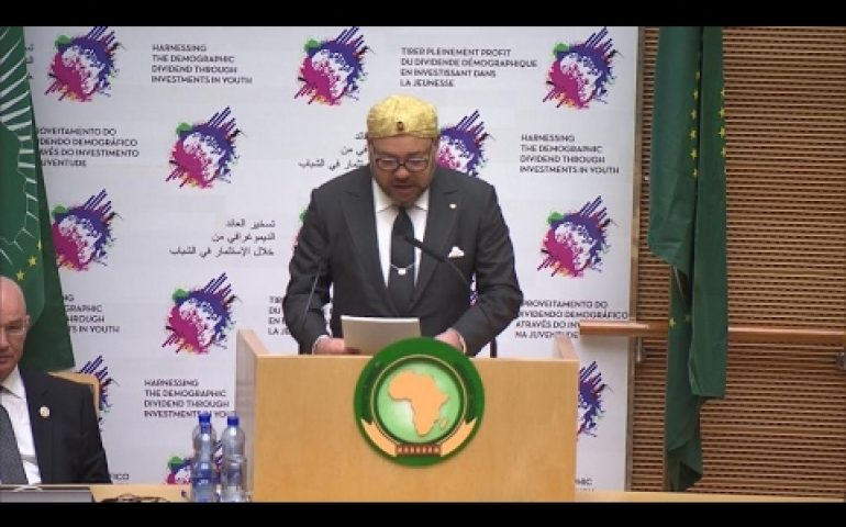 Morocco's king hails 'return home' to African Union