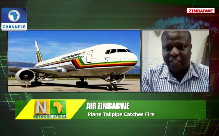 Zimbabwe Plane Landed Safely After Catching Fire Mid-air |Network Africa|