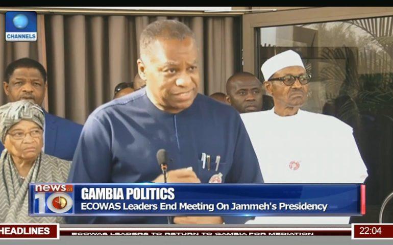 Gambia Politics: ECOWAS Leaders End Meeting On Jammeh's Presidency