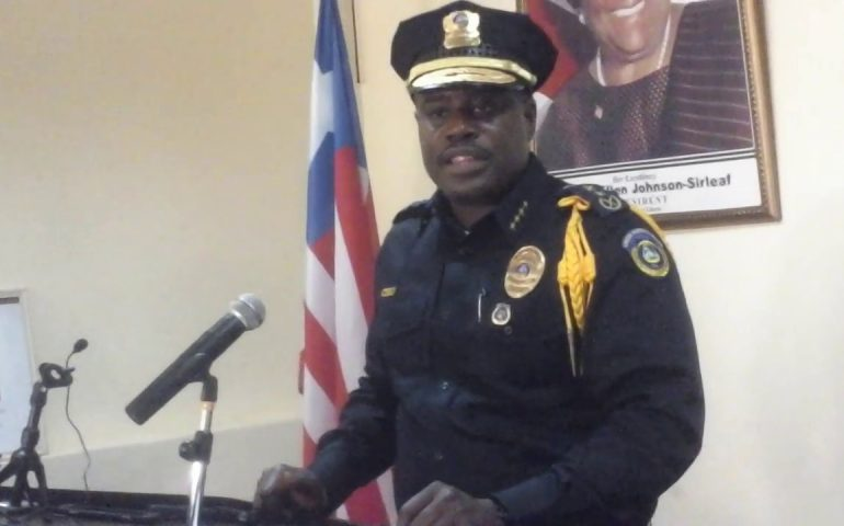 Liberia Police Chief Col. Gregory Coleman On Traffic Control As ECOWAS Conference Held In Liberia