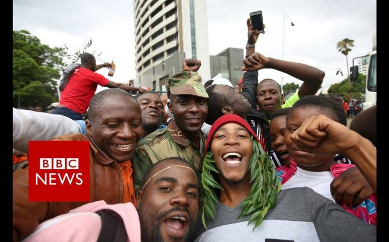 Zimbabwe crisis: 'People sense Robert Mugabe is gone' – BBC News