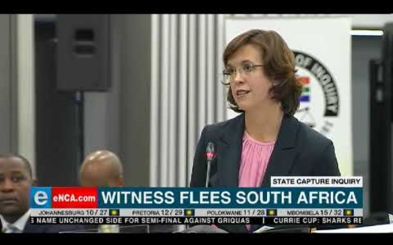 Witness flees South Africa
