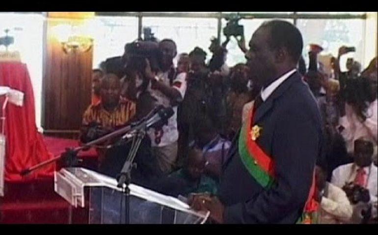 Burkino Faso president sworn in