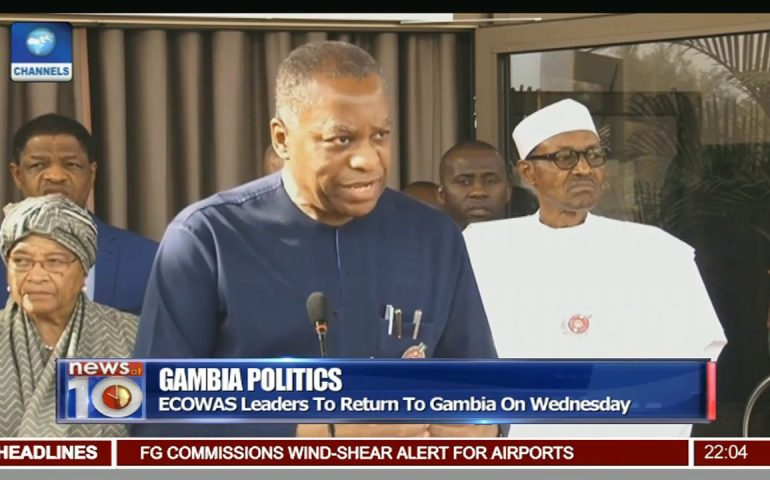 News@10: ECOWAS Leaders To Return To Gambia On Wednesday 09/01/17 Pt. 1