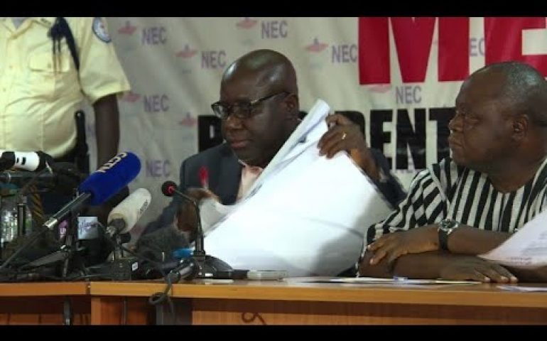 Liberia's election commission says George Weah wins vote