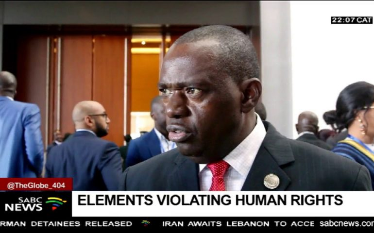 Zimbabwe's Minister Sibusiso Moyo admits some security forces violated human rights