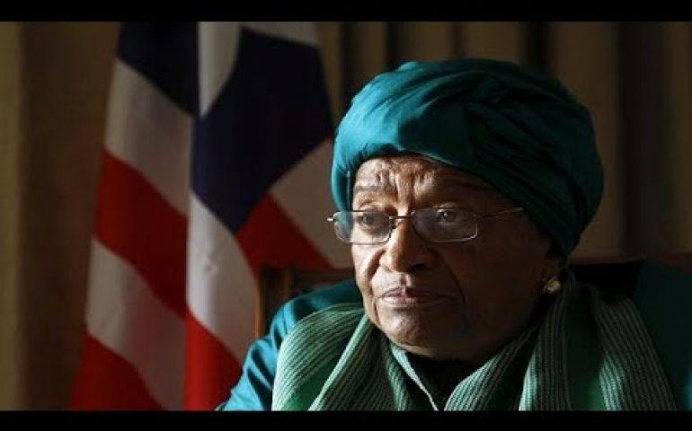 Liberia ruling party expels President Johnson Sirleaf