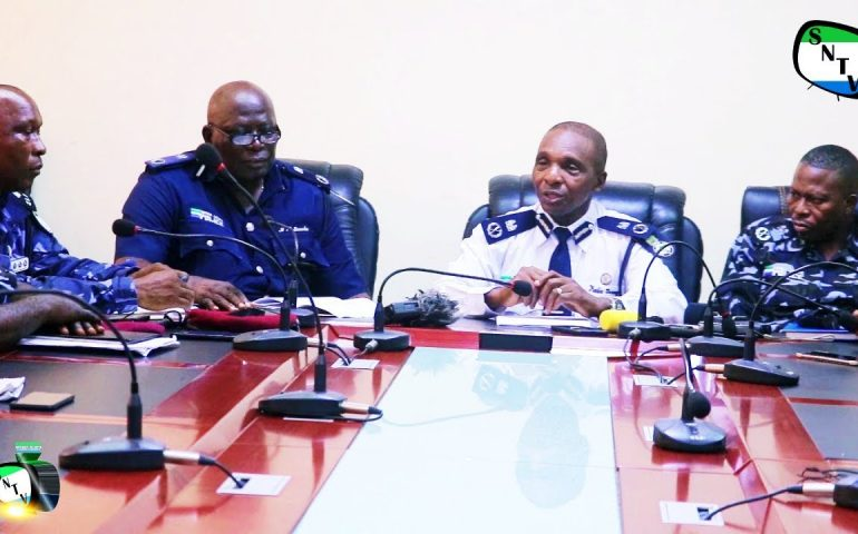Sierra Leone Police Press Briefing On Constituency 110 Election – Sierra Network