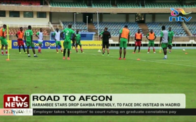 Harambee Stars to face DRC instead of Gambia || 2019 AFCON