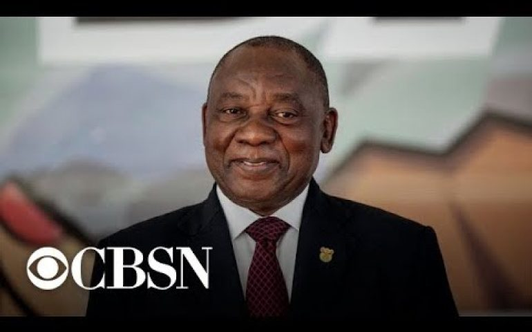South Africa's ruling party set to win election with reduced majority