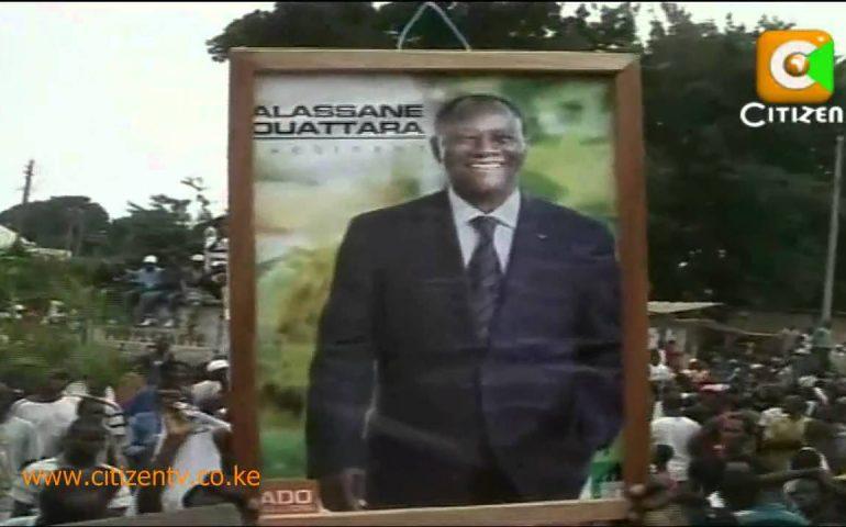 Raila Arrives in Ivory Coast