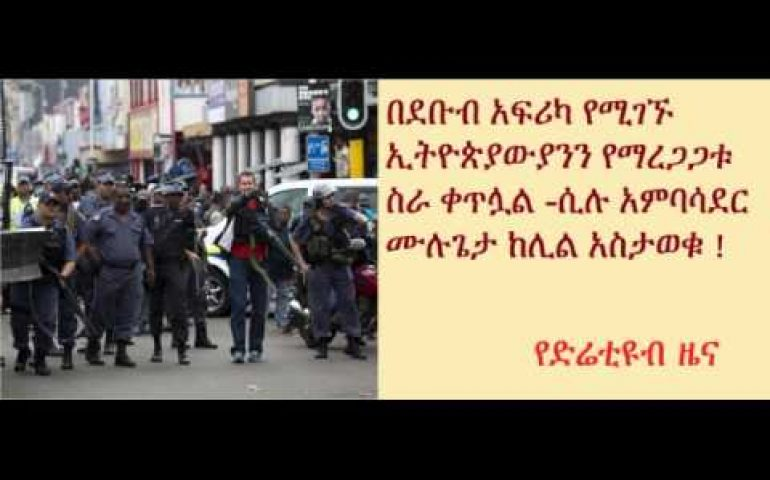 DireTube News – Ethiopia's Ambassador to SA says stabilization mission for Ethiopians is continued